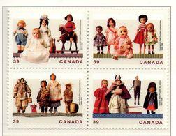 PIA  -  Canada  -  1990  : Bambole Canadesi -   (Yv 1144-47) - Giochi