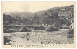 Cpa Sainte Croix Vallée Française - La Rivière Et Les Environs - France