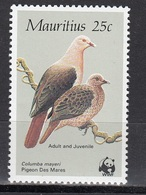 Mauritius - WWF / BIRDS 1985 MNH - Mauritius (1968-...)