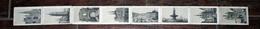 Carnet Dépliant De 1889 : 8 Vues Photos Images De BORDEAUX Illustré & Horaires Des Trains Pour Gare D'Orléans - Vieux Papiers