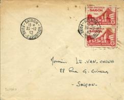 Timbres Et Cachets De La Foire Expo.de SAIGON  - 1942 - - Indochina (1889-1945)