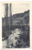 Cpa Le Pont De Bourlade Sur La Route D'Aumont - Aumont Aubrac