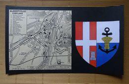 Plan Ancien De ALBERTVILLE-CONFLANS, ( SAVOIE ), Datant De 1953. - Cartes Géographiques