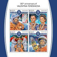 Solomon Islands. 2017 80th Anniversary Of Valentina Tereshkova. (513a) - Space