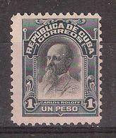 "CUBA , 1910 , Yvert N° 160 , 1 Peso  Bleu Noir / Noir  "" Carlos Roloff   ""  Neuf ( * ) /  TB Cote 10 Euros - Cuba"