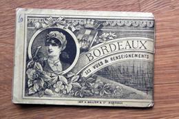 Carnet Dépliant D'image De BORDEAUX Grand Bazar De Bordeaux 1889 - Vieux Papiers
