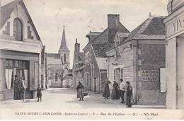 SAINT-MICHEL-SUR-LOIRE -  Rue De L'Eglise - Sabotier-Cordonnerie - Animé - TBE - Andere Gemeenten