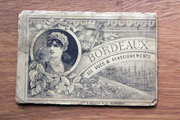 Carnet Dépliant D'image De BORDEAUX Grand Bazar De Bordeaux 1889 - 14 Vues Illustrations - Vieux Papiers