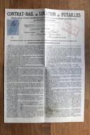 Contrat Bail De Location De Futailles : Tonnellerie De LANGON Gironde En 1922 - Banque & Assurance