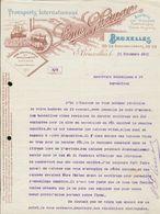 Bruxelles - Entête Du 15 Novembre 1911 - Transports Internationaux &  Maritimes - Louis Ghemar - Agence En Douane - Transport