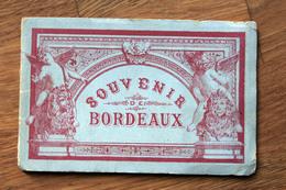 Carnet Dépliant D'images De BORDEAUX Ed. Welter 1889 - Vues Illustrations - Vieux Papiers