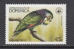 Dominica - WWF / BIRD / PARROT 1984 MNH - Dominica (1978-...)