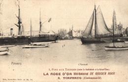 """BELGIQUE - ANVERS - ANTWERPEN - L'Escaut - Carte Publicitaire """"La Rose D'or"""" - De Gouden Roos. - Antwerpen"""