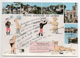 Yonne-Petite Histoire De Lionne-Multivues (Auxerre,Avallon,Tonnerre,Sens,Joigny )-dessin Lionne,dompteur,cirque-Moralité - France