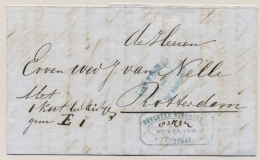 """Nederland - 1867 - Brief """"Met 1 Kist ..."""" Van Deventer Naar Van Nelle / Rotterdam - Niederlande"""