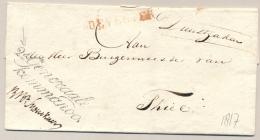 Nederland - Militaire Portvrijdom 2e Generaal Commando Op Omslag Van Deventer Naar Thiel - ...-1852 Voorlopers