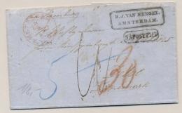 Nederland - 1861 - Complete Vouwbrief Na Posttijd Van Amsterdam Via Hamburg Naar Denemarken / Denmark - ...-1852 Voorlopers