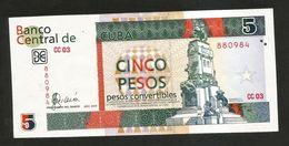 CUBA - BANCO CENTRAL De CUBA - 5 PESOS (2006) - Cuba