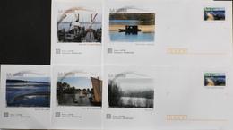 5 Enveloppes Illustrées Prêts-à-poster Bords De Loire - Envoi Lettre Prioritaire 20gr Validité Monde Entier - Neuves - Ganzsachen