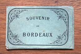 Carnet Dépliant D'images / Illustrations : Souvenir De BORDEAUX Cicra 1889 - Vieux Papiers