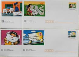 4 Enveloppes Illustrées Prêts-à-poster Les Journées De La Lettre - Envoi Lettre Prioritaire 20gr Validité Monde Entier - Ganzsachen