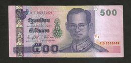 THAILAND / TAILANDIA - 500 BAHT / RAMA IX - Tailandia