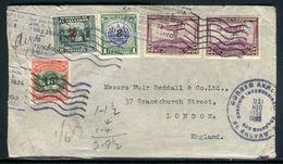 Salvador - Enveloppe Pour Londres En 1934 Par Avion , Affranchissement Plaisant - Ref F107 - El Salvador