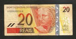 BRAZIL - El BANCO CENTRAL Do BRAZIL - 20 REAIS (2002 - 2010) - Brasile
