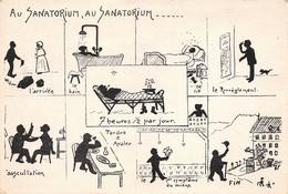 Illustration - Au Sanatorium - Regime Thalasso - Künstlerkarten