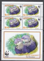 Aitutaki - WWF / BIRDS 2002 MNH - Aitutaki