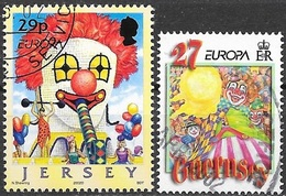 W131 Guernsey-Jersey 2 Stamps  2002  Used-oblit. - 2002