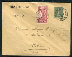 """Maroc - Enveloppe De Kenitra Pour La Suisse En 1918 , Oblitération """" Cap Bou Garoni Sémaphore """" - Ref F111 - Marokko (1891-1956)"""