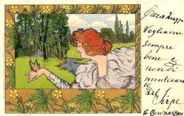 [DC11538] CPA - ILLUSTRATORE RICH LAUDA - ART NOUVEAU - Viaggiata - Old Postcard - Unclassified