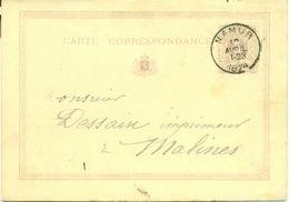 Briefkaart - Carte Correspondance Nr 3 Avec Cachet Namur 1874 - Postcards [1871-09]