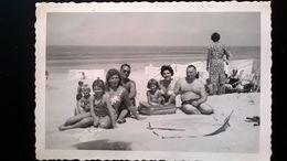 LITTORAL BELGIQUE LA PANNE COXYDE FLANDRE LOT DE 40 PHOTOS ORIGINALES NOIR-BLANC D UNE FAMILLE ANNÉES 1950 - 1960 - Albums & Collections