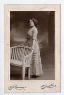"""Photo Collée Sur Carton Portrait En Pied 1912 """" Fanny Megemond """" , Cheri Rousseau Paul Garotti , St Etienne - Photos"""