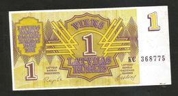 LETTONIA / LATVIA - 1 LATVIJAS RUBLIS (1992) - Latvia