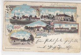 Gruss Aus Landegg-Post Pottendorf N.Ö. - 1900 Litho 2.Wahl - Otros