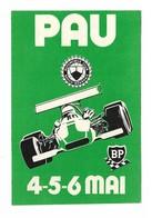 Autocollant - Courses Automobiles - Grand Prix De Pau - 4-5-6 Mai - BP - Automobile Club Basco Béarnais : 8 X12 Cm - (5) - Autocollants