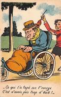 Illustration - Vieux Monsieur Sur Le Fauteuil Roulant - Coccyx - Andere Zeichner