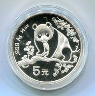 6719 - CHINA - Silbermünze 5 Yuan, 1.Panda-Ausgabe 1993 -- Silver Coin Panda - China