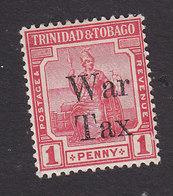 Trinidad And Tobago, Scott #MR13, Mint Hinged, Britannia Overprinted, Issued 1918 - Trinidad & Tobago (...-1961)