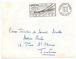 AVEYRON - Dépt N° 12 = CAPDENAC GARE 1958 =  FLAMME Non Codée = SECAP Illustrée D'un PONT 'CARREFOUR TOURISTIQUE ' - Marcophilie (Lettres)