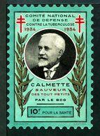 """Tuberculose Antituberculeux - Grand Timbre De 1934  """"10 Frs Pour La Santé"""" - - Commemorative Labels"""