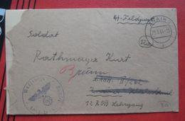 Feldpost: Feldpostbrief Warschau Nach Brünn (Feld-Feld) - Marcophilie - EMA (Empreintes Machines)