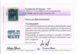ANTICHI STATI ITALIANI TOSCANA 6 CRAZIE SU FRAMMENTO CERTIFICATO LUIGI GUIDO CON DC - Toscane
