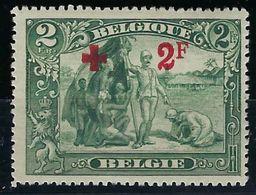 Belgique, N° 161 ** Croix Rouge - 1918 Rotes Kreuz