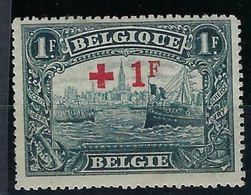 Belgique, N° 160 ** Croix Rouge - 1918 Red Cross
