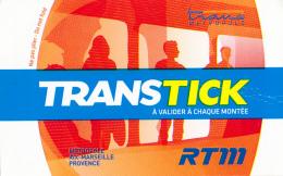 Ticket : Marseille, Transtick, Bus, Métro, Tramway, Trans Métropole Aix, Marseille, Provence, RTM - Bus