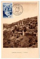 AVEYRON - Dépt N° 12 = CONQUES 1949 = CARTE MAXIMUM Sur N° 805 ABBAYE - Maximumkarten